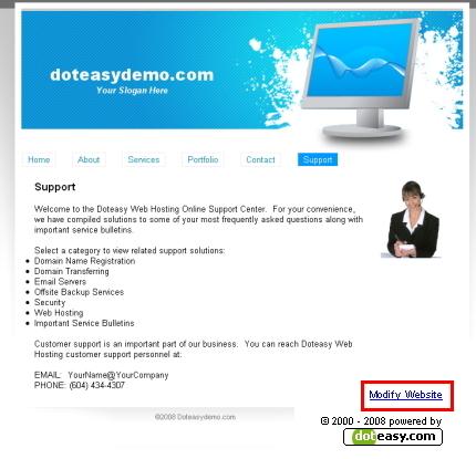 Modify Website