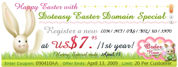 Doteasy Easter Domain Special