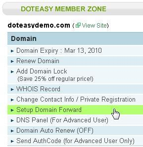 Setup Domain Forwarding