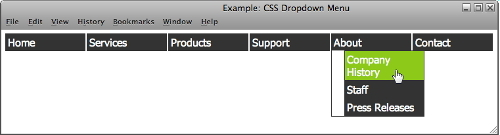 dropdown menu 1